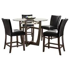 5 Piece Counter Height Dining Room Sets by 5 Piece Counter Height Dining Table Set Wood Black Steve Silver