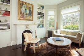 houzz living rooms living room transitional with cowhide rug built
