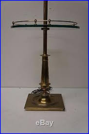 Stiffel Floor Lamp With Glass Table by Stiffel Mid Century Brass Candlestick Floor Lamp With Glass Tray
