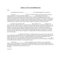 Recommendation Letter Example For Student Reference Format Phd