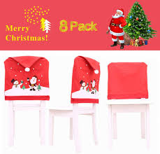 ElementDigital Santa Hat Chair Covers, Set Of 8 PCS Santa Clause Red Hat  Chair Back Covers Christmas Holiday Festive Decor Home Restaurant Bar Party  ... Amazoncom 6 Pcs Santa Claus Chair Cover Christmas Dinner Argstar Wine Red Spandex Slipcover Fniture Protector Your Covers Stretch 8 Ft Rectangular Table 96 Length X 30 Width Height Fitted Tablecloth For Standard Banquet And House 20 Hat Set Everdragon Back Slipcovers Decoration Pcs Ding Room Holiday Decorations Obstal 10 Pcs Living Universal Wedding Party Yellow Xxxl Size Bean Bag Only Without Deisy Dee Low Short Bar Stool C114 Red With Green Trim Momentum Lovewe 6pcs Nordmiex Spendex 4 Pack Removable Wrinkle Stain Resistant Cushion Of Clause Kitchen Cap Sets Xmas Dning