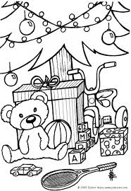 Kids Teddy Bear And Toys Coloring Page