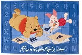 tapis de chambre winnie l ourson tapis enfant winnie alphabet 115x168cm tapis enfant disney de