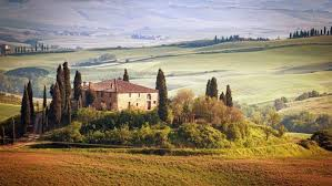 Tuscany Italy Nature Landscape House HD Wallpaper Desktop Background