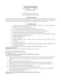 Manufacturing Manager Resume Production Supervisor Sample