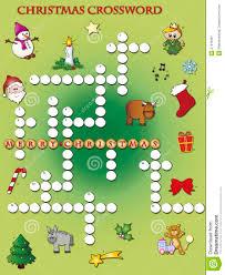 Christmas Tree Type Crossword christmas crossword royalty free stock photography image 27419397