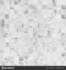 White Mosaic Marble Tile Texture Seamless Stock Photo
