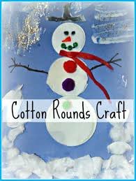 Easy Winter Craft Ideas For Toddlers Cotton Rounds Snowman Fun