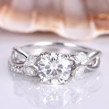 Lesbian Wedding Set Filigree Diamond Engagement Lesbian