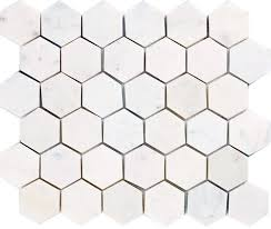 4 Inch Drain Tile Menards by Epoch Tile White Carrara Polished Marble Hexagon 12 X 12 Stone