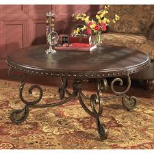 Traditional Dark Brown Norcastle Sofa Table by Signature Design By Ashley Rafferty Brown Round Cocktail Table