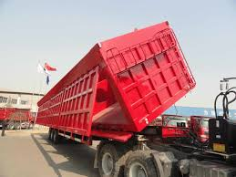 100 Side Dump Truck Hot Item 6080 Tons Heavy Truck Trailer Trailer