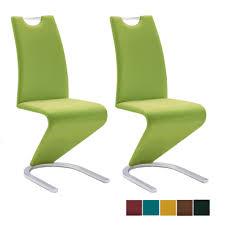 mca furniture freischwinger amado moderner 2er set stuhl für esszimmer mit kunstlederbezug in verschiedenen ausführungen