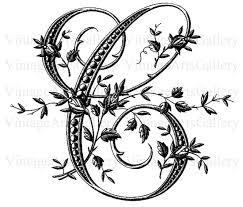 FRENCH ALPHABET STENCIL Letter C Monogram Initial