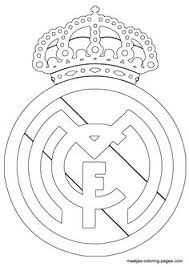 Real Madrid Logo Coloring Page