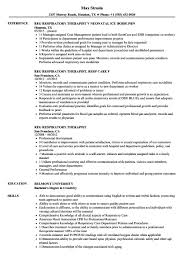 Respiratory Therapy Resume Examples Document Review Therapist