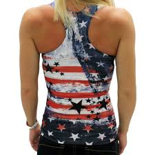 American Flag Tank Top Country Music Shirt Festival Clothing Stars And Stripes Memorial Day 4th Of July