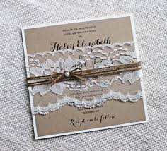 Rustic Wedding Invitations Lace Invitation Kraft Elegant Shabby Chic DIY 2416712
