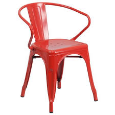 Red Patio Furniture Pinterest by Red Metal Indoor Outdoor Chair With Arms Products Pinterest