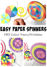 Easy Paper Spinners Tutorial