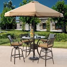 High Top Patio Furniture Sets by Lovable Bistro Set With Umbrella Hole High Top Patio Table Perfect