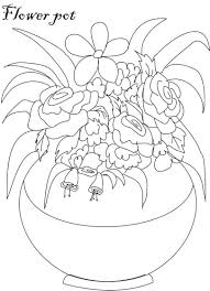 Flower Page Printable Coloring Sheets For Flower Pot