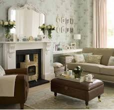 interior fancy living room ideas with cream fabric sofa and brown