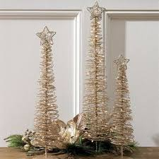 Christmas Tree Lovely Set Of 3 Lighted Spiral