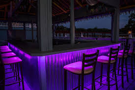 Outdoor Bar Lighting Ideas Patio Tropical With Color Lights Led Deck