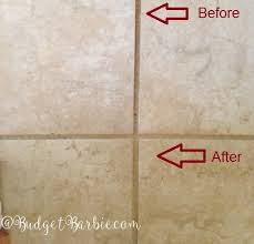 budget my attempt to clean grout peroxide