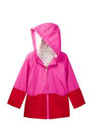 kate spade new york hooded colorblock rain coat toddler