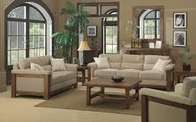 Living Room In Beige Color
