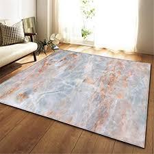 de mengjie moderner wohnzimmer teppich blau orange