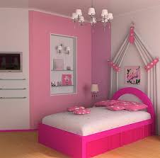 Kid Bedroom Design Idea With Chandelier And Pink Theme For Girl