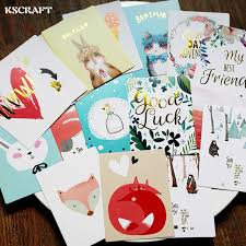 KSCRAFT 20Pcs Cute Animals Acid Free Colorful Paper Pocket Cards For Scrapbooking DIY Projects Photo