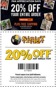 Spirit Halloween Coupons - 20% Off A Single Item Today Spirit Halloween Coupon Code Shipping Coupon Bug Channel 19 Of Children Support Packard Childrens Hospital Portland Cruises And Events 3202 Photos 727 Fingerhut Direct Marketing Discount Codes Airlines 75 Off Slickdealsnet Nascigs Com Promo Online Deals Just Take Spirit Halloween 20 Sitewide Audible Code 2013 How To Use Promo Codes Coupons For Audiblecom The Faith Mp3s Streaming Video American Printable Coupons 2018 Six 02 Marquettespiritshop On Twitter Save Big This Weekend With Do I Get My 1000 Free Spirit Bonus Miles