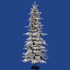 Sears Flocked Pencil Christmas Tree by Vickerman Christmas Tree Christmas Lights Decoration