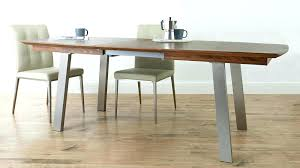 Dining Tables Brushed Metal Table Gate Modern Oak Top Extension New Extending Walnut