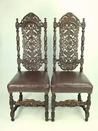 Pair Antique Victorian Gothic High Back Oak Chairs | 252545 ... High Back Antique Oak Morris Recling Chair Claw Feet Oak Framed Throne Chair Danish Homestore Wheat Ding Chairs Star Wars Bean Bag Costway With Cross Set Of 2 Solid Wooden Frame Style Side For Kitchen Rooms Rattan Seat A Pair 19th Century Hall In The Jacobean Charles Ii Single C1680 B3771 La41504 Vintage Rocker Press Cane Baby Empoto Childs Rush Coaching Settle Carved Renaissance Throne Victorian And