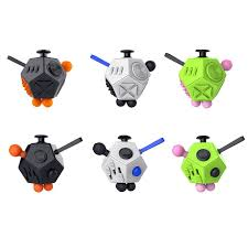 2017 Latest 12 Sided Fidget Cube High Quality Desk Toy Designed To Help Peaple Focus