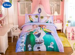 Disney Frozen Elsa And Anna Character Bedding 3D Printed Set For Girls Bedroom Decor Cotton