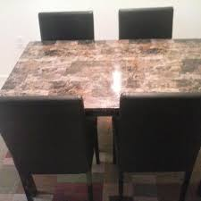 find more gorgeous marble top dining table and 4 matching leather