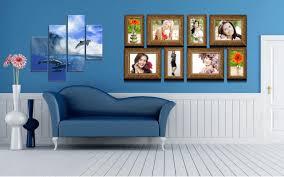 Blue Living Rooms Interior Design Metal Wall Mount Storage Shelves Grey Polyester Fiber Rug Christmas Decorations Red Carpet Texture Pattern Light