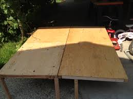 how to build a camping van platform bed with plywood