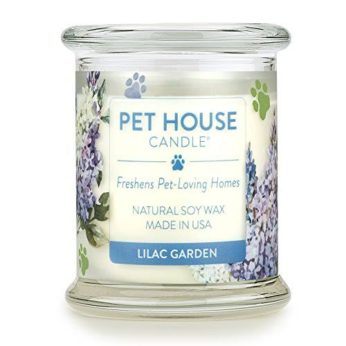 Pet House Lilac Garden Natural Soy Candle, 8.5-oz Jar