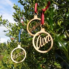 Christmas Tree Name Baubles by Personalised Christmas Tree Decorations