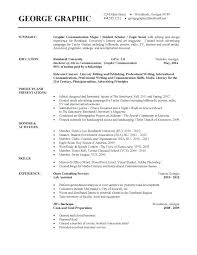Resume Examples For College Graduates Recent Grads