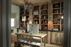 Rustic Built In Cabinets