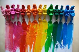 Melted Disney Princess Crayon Rainbow Canvas