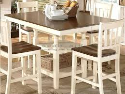 White Pub Set Rustic Dining Tables Counter Height Bar Table With